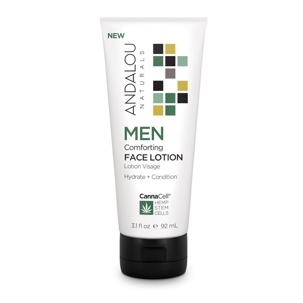 Personal Care - Andalou Naturals - Men's Comforting Face Lotion, 92mL