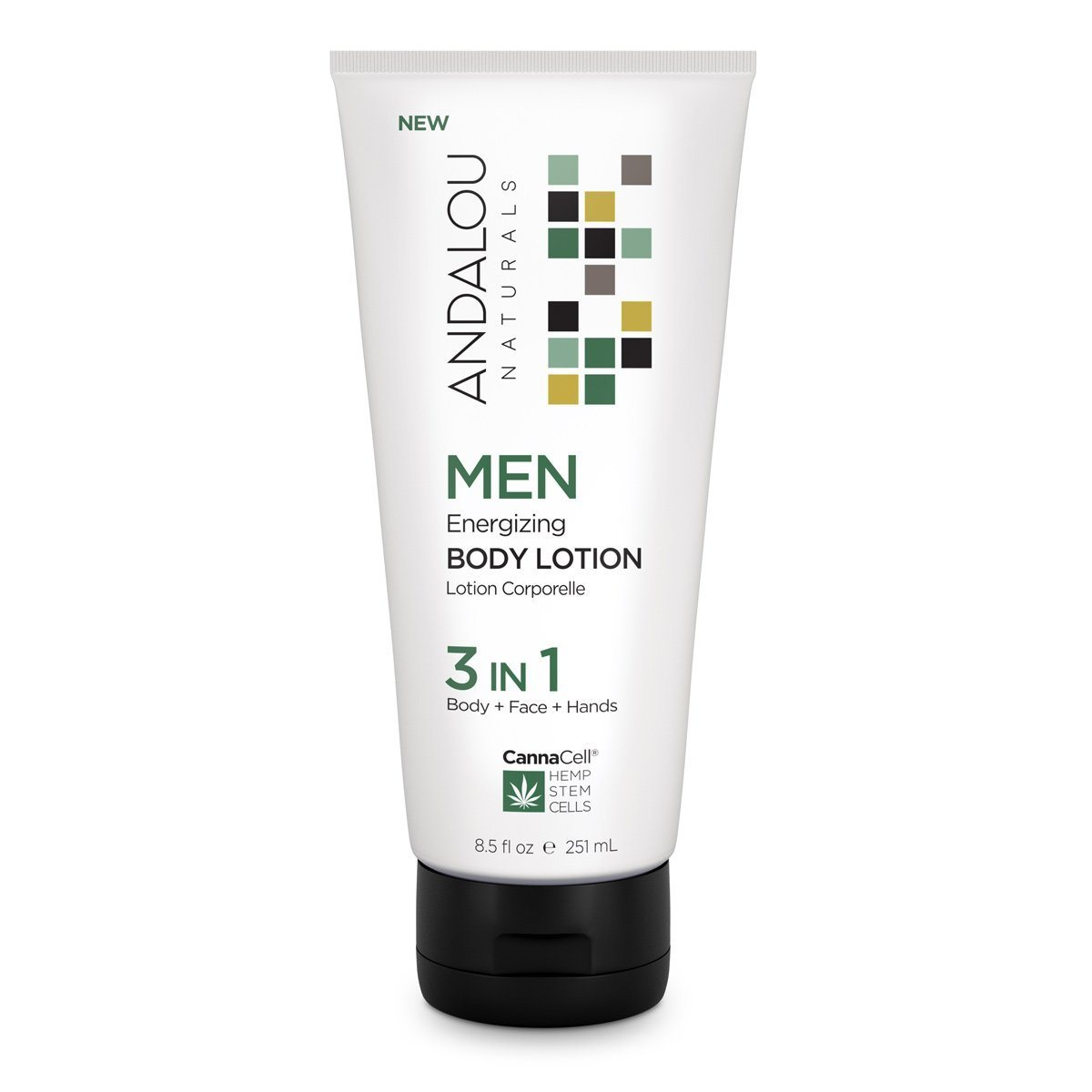Personal Care - Andalou Naturals - Men's Energizing Body Lotion 3-in-1, 251mL