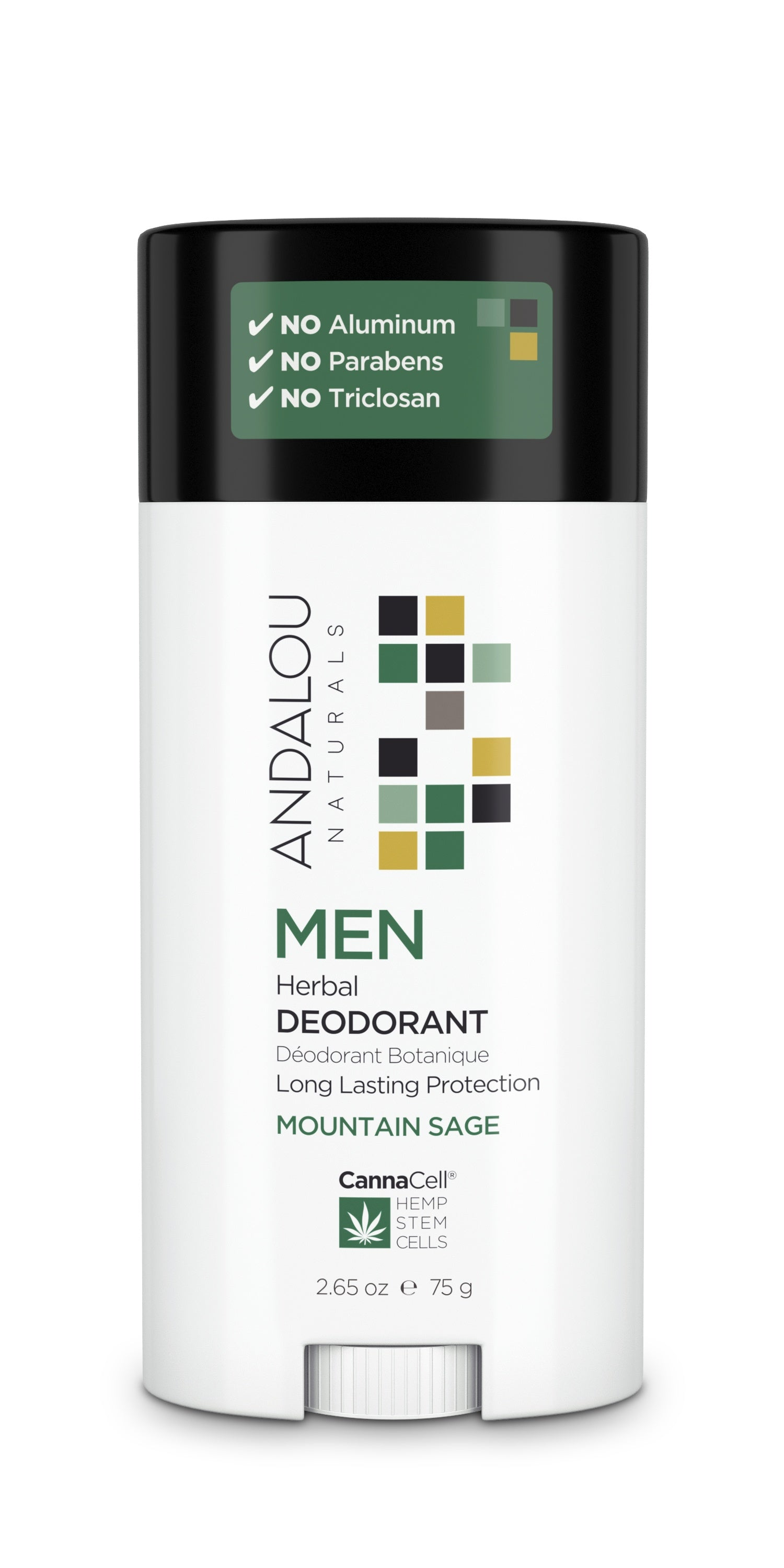 Personal Care - Andalou Naturals - Men's Herbal Deodorant (Mountain Sage), 75g