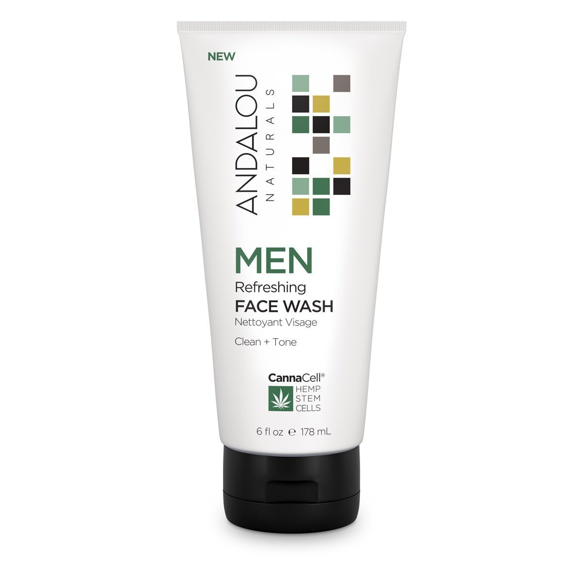 Personal Care - Andalou Naturals - Men's Refreshing Face Wash, 178mL