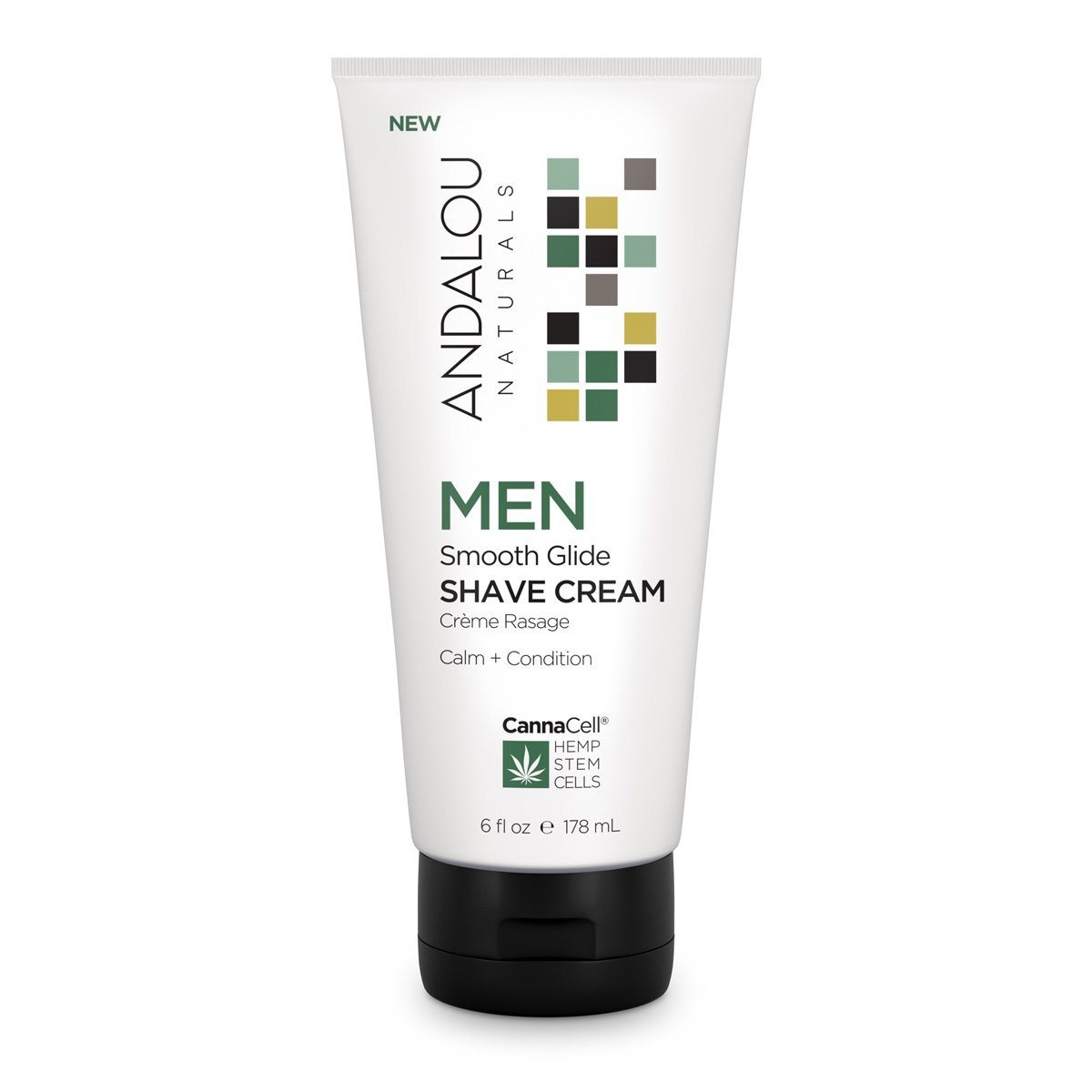 Personal Care - Andalou Naturals - Men's Smooth Glide Shave Cream, 178mL