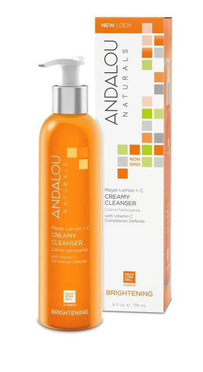 Personal Care - Andalou Naturals - Meyer Lemon Creamy Cleanser, 178ml