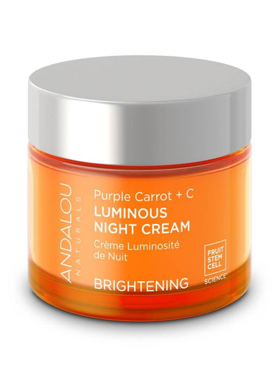 Personal Care - Andalou Naturals - Purple Carrot + C Luminous Night Cream, 50ml