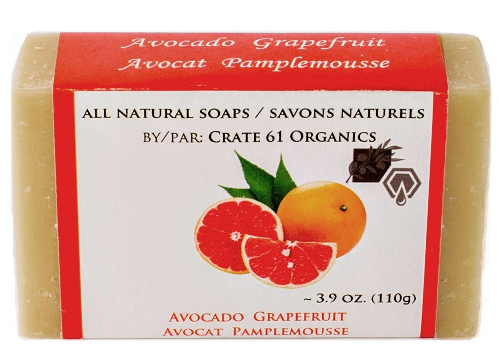 Personal Care,Beauty & Skin Care - Crate 61 - Avocado Grapefruit Soap, 110g