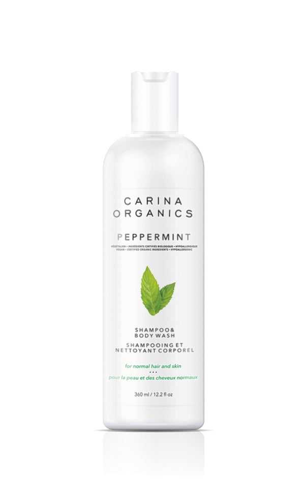 Personal Care - Carina Organics - Peppermint Shampoo & Body Wash, 360 Ml