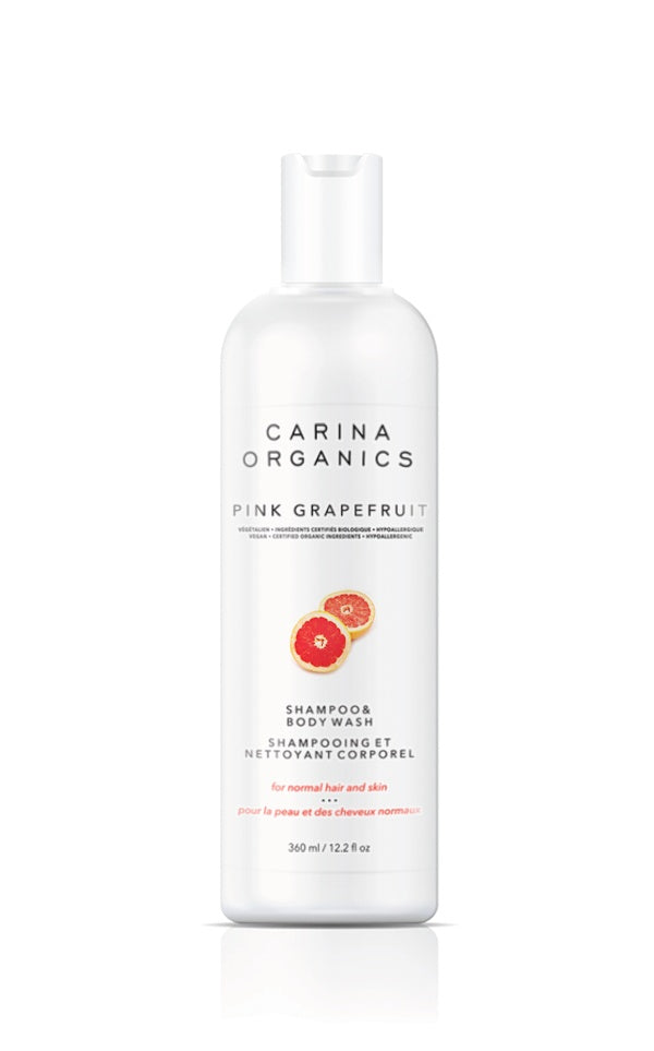 Personal Care - Carina Organics - Pink Grapefruit Shampoo & Body Wash, 360 ML