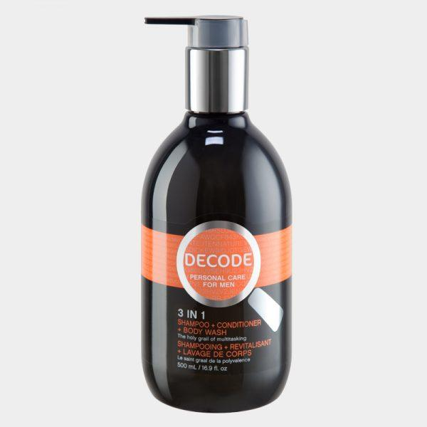 Personal Care - Decode - 3 In 1, Shampoo + Conditioner + Body Wash, 500ml
