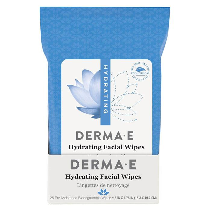 Personal Care - Derma E - Hydrating Facial Wipes - 25 Towelettes