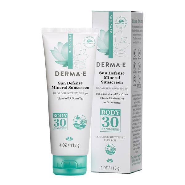 Personal Care - Derma E - SPF 30 Sun Defense Mineral Sunscreen, 14g