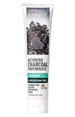 Personal Care - Desert Essence - Activated Charcoal Toothpaste - Fresh Mint, 176g