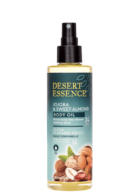 Personal Care - Desert Essence - Jojoba & Sweet Almond Body Oil Spray, 8.28 Oz