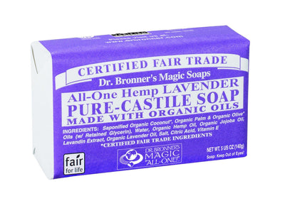 Personal Care - Dr. Bronner's - Lavender Bar Soap, 140g