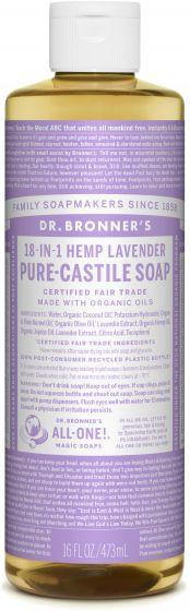 Personal Care - Dr. Bronner's - Org. Lavend. Oil Castile Soap - 472ml