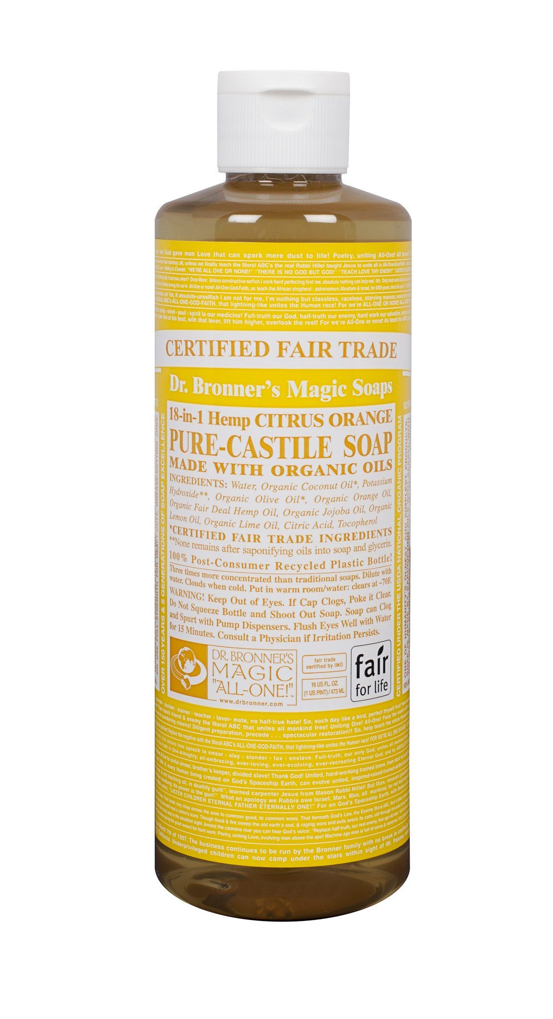 Personal Care - Dr. Bronner's - Organic Citrus Oil Castile Soap - 472ml