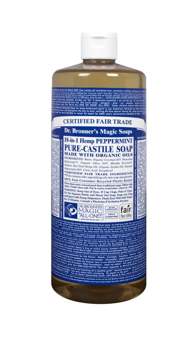 Personal Care - Dr. Bronner's - Organic Peppermint Castile Soap, 944ml