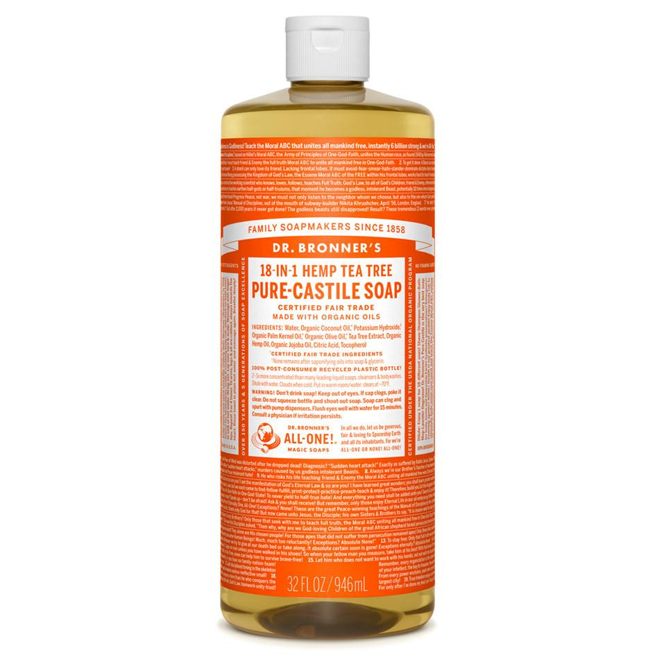 Personal Care - Dr. Bronner's - Organic Tea Tree Oil Castile Soap, 946ml