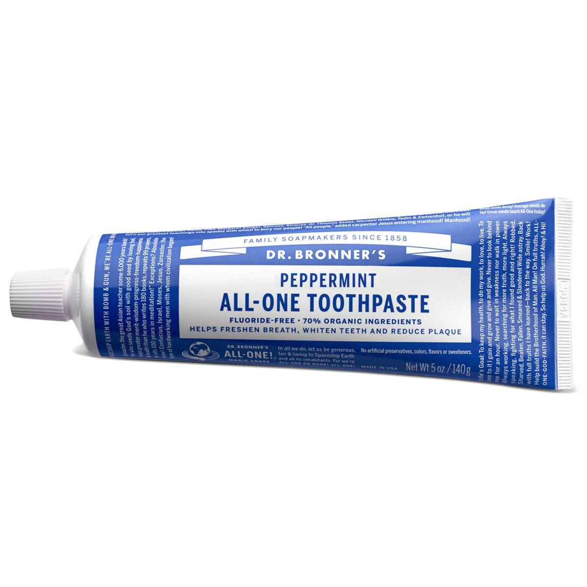 Personal Care - Dr. Bronner's - Peppermint Toothpaste, 140g