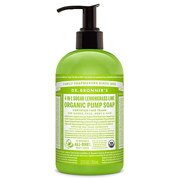Personal Care - Dr. Bronner's - Pump Soap Lemongrass Lime - 355ML