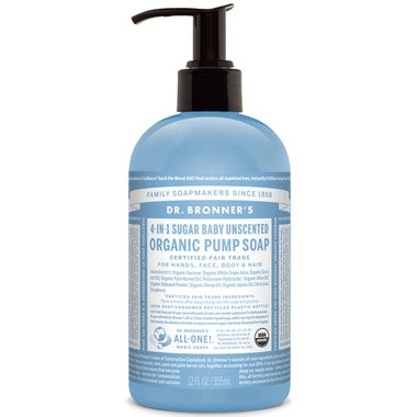 Personal Care - Dr. Bronner's - Pump Soap Unscented - 355ML
