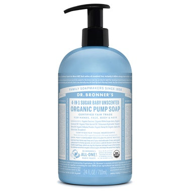 Personal Care - Dr. Bronner's - Pump Soap - Unscented - 710ML