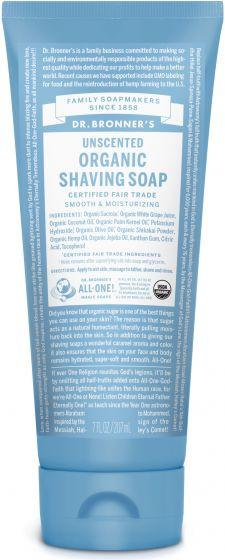 Personal Care - Dr. Bronner's - Shave Gel - Unscented - 207ml