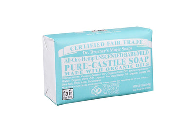 Personal Care - Dr. Bronner's - Unscented Baby-Mild Bar Soap, 140g