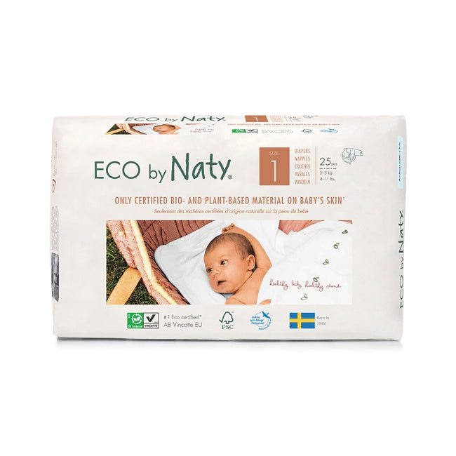 Personal Care - Eco By NATY - Baby Diapers (size 1, 4-11 Lbs., 25 Count)