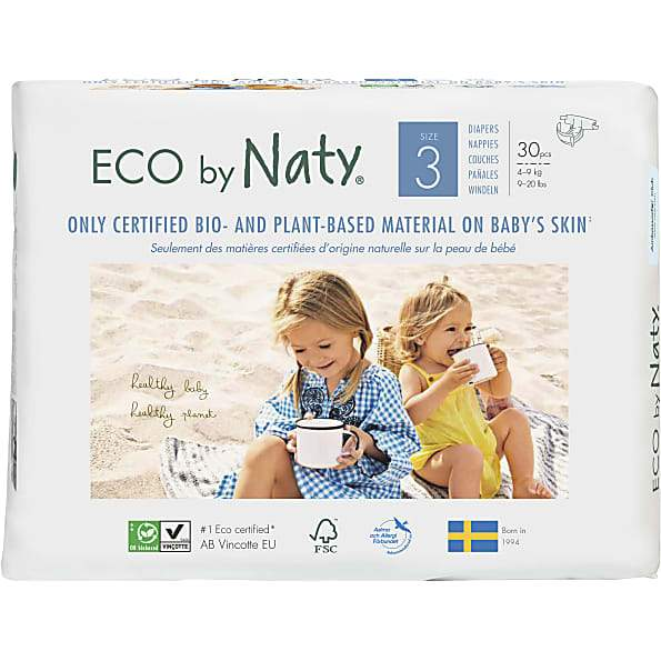 Personal Care - Eco By NATY - Baby Diapers (size 3, 9-20 Lbs., 30 Count)
