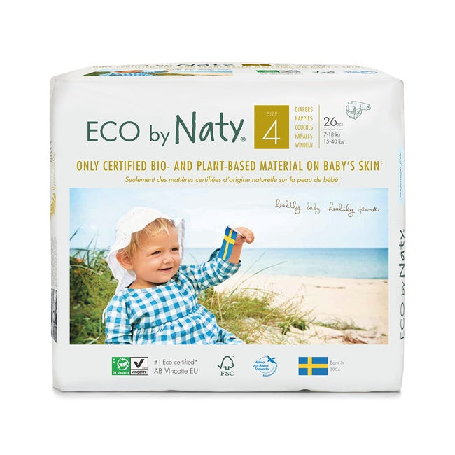 Personal Care - Eco By NATY - Baby Diapers (size 4, 15-40 Lbs., 26 Count)