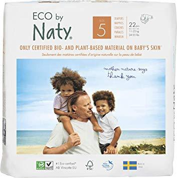 Personal Care - Eco By NATY - Baby Diapers (size 5, 24-55 Lbs., 22 Count)