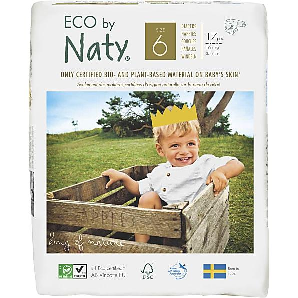 Personal Care - Eco By NATY - Baby Diapers (size 6, 35+ Lbs., 17 Count)