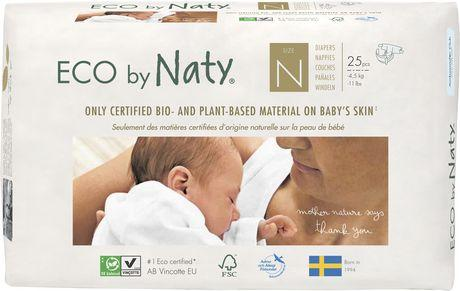 Personal Care - Eco By NATY - Baby Diapers (size N, Up To 11 Lbs., 25 Count)