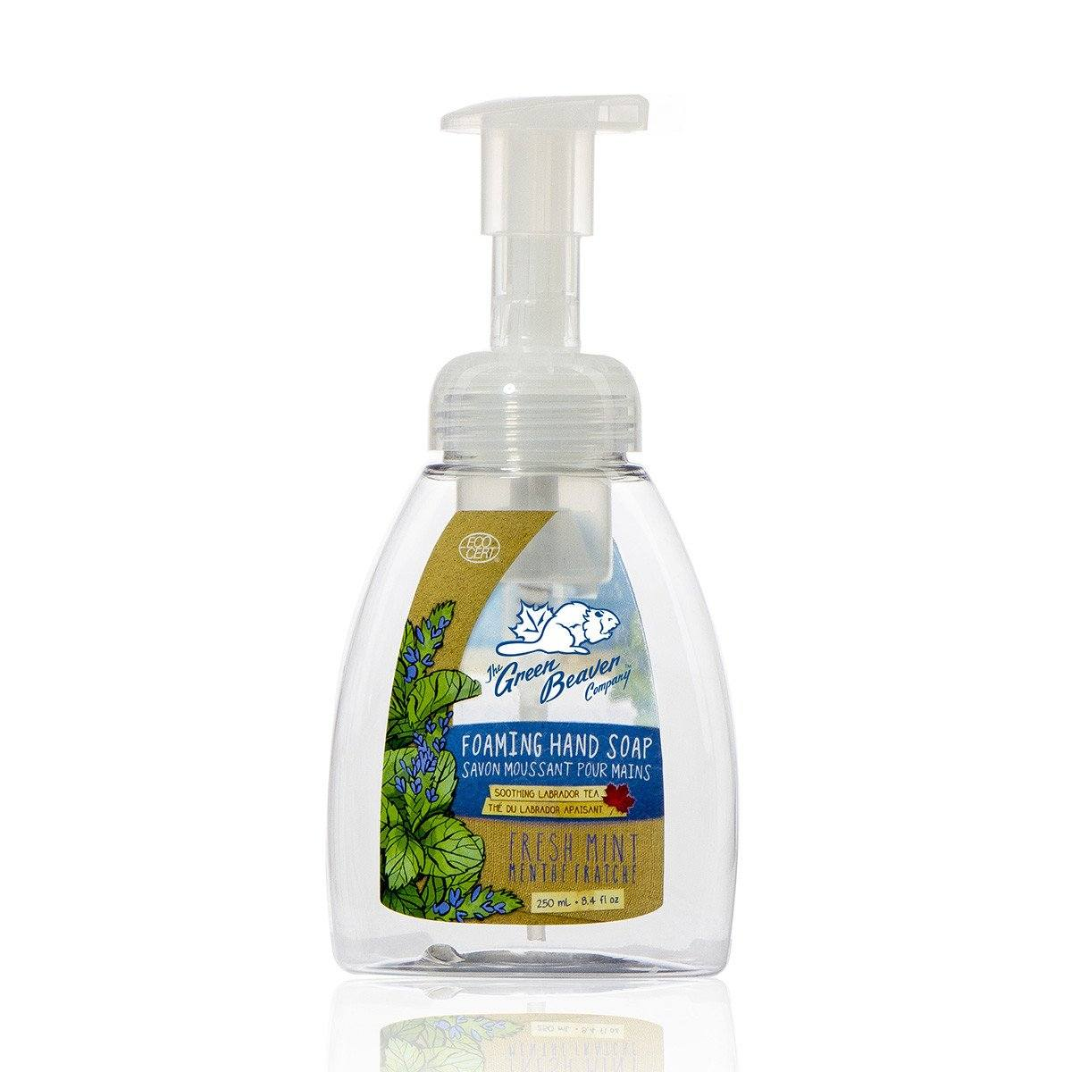 Personal Care,Gluten Free,Vegan,Vegetarian - Green Beaver - Fresh Mint Foaming Handwash, 250 Ml