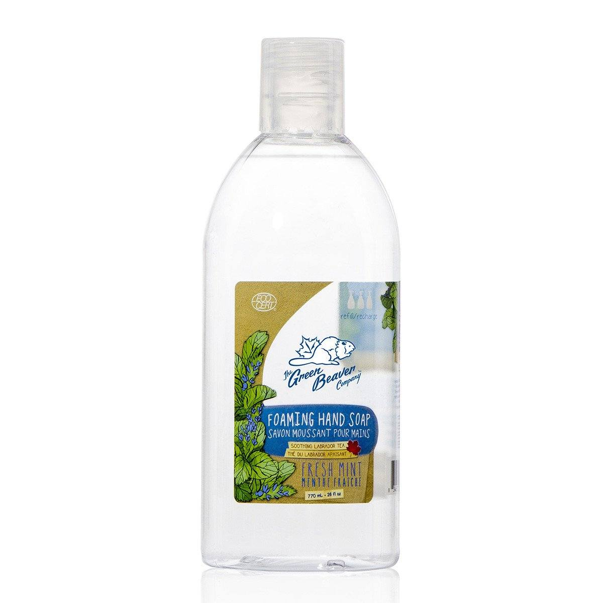 Personal Care,Gluten Free,Vegan,Vegetarian - Green Beaver - Fresh Mint Foaming Handwash Refill, 250 Ml