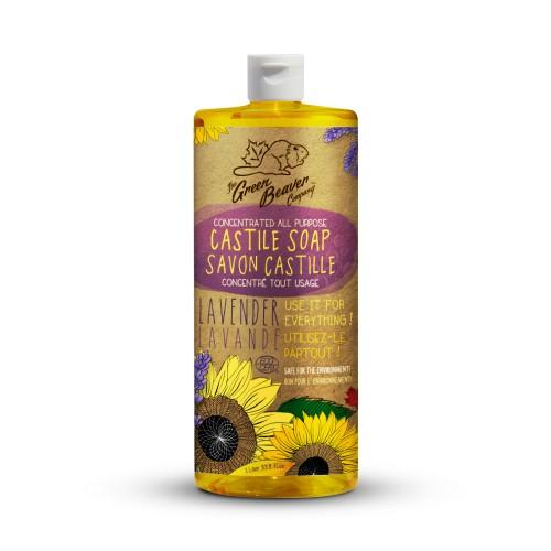 Personal Care - Green Beaver - Sunflower Liquid Soap - Lavender, 1L