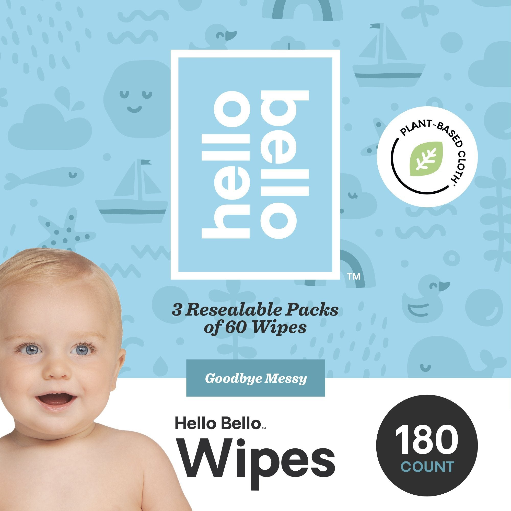 Personal Care - Hello Bello - Baby Wipes, 3 Pack, 180 Count