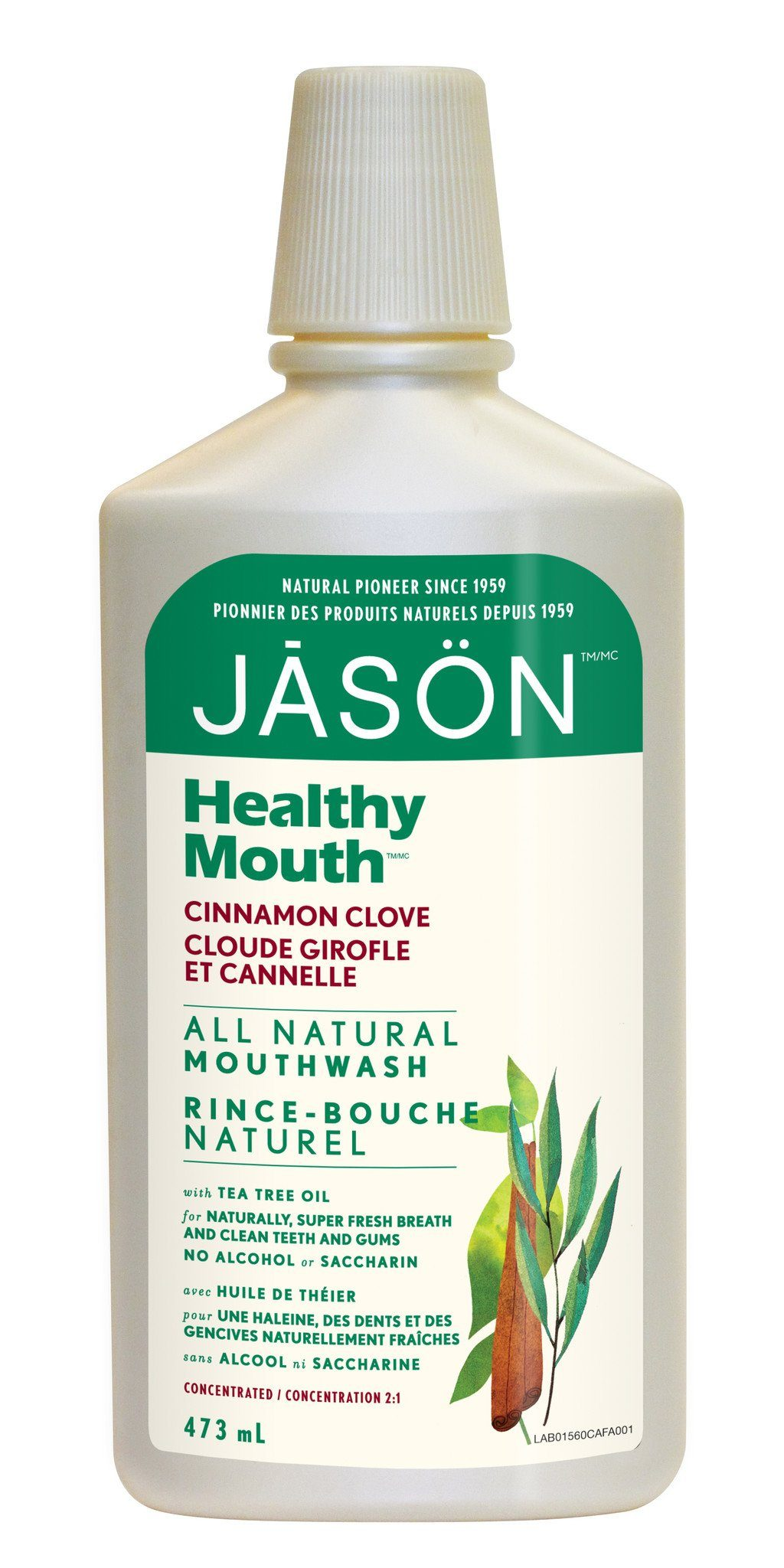 Personal Care - JASON - Healthy Mouth® Tartar Control Cinnamon Clove Mouthwash, 473ml