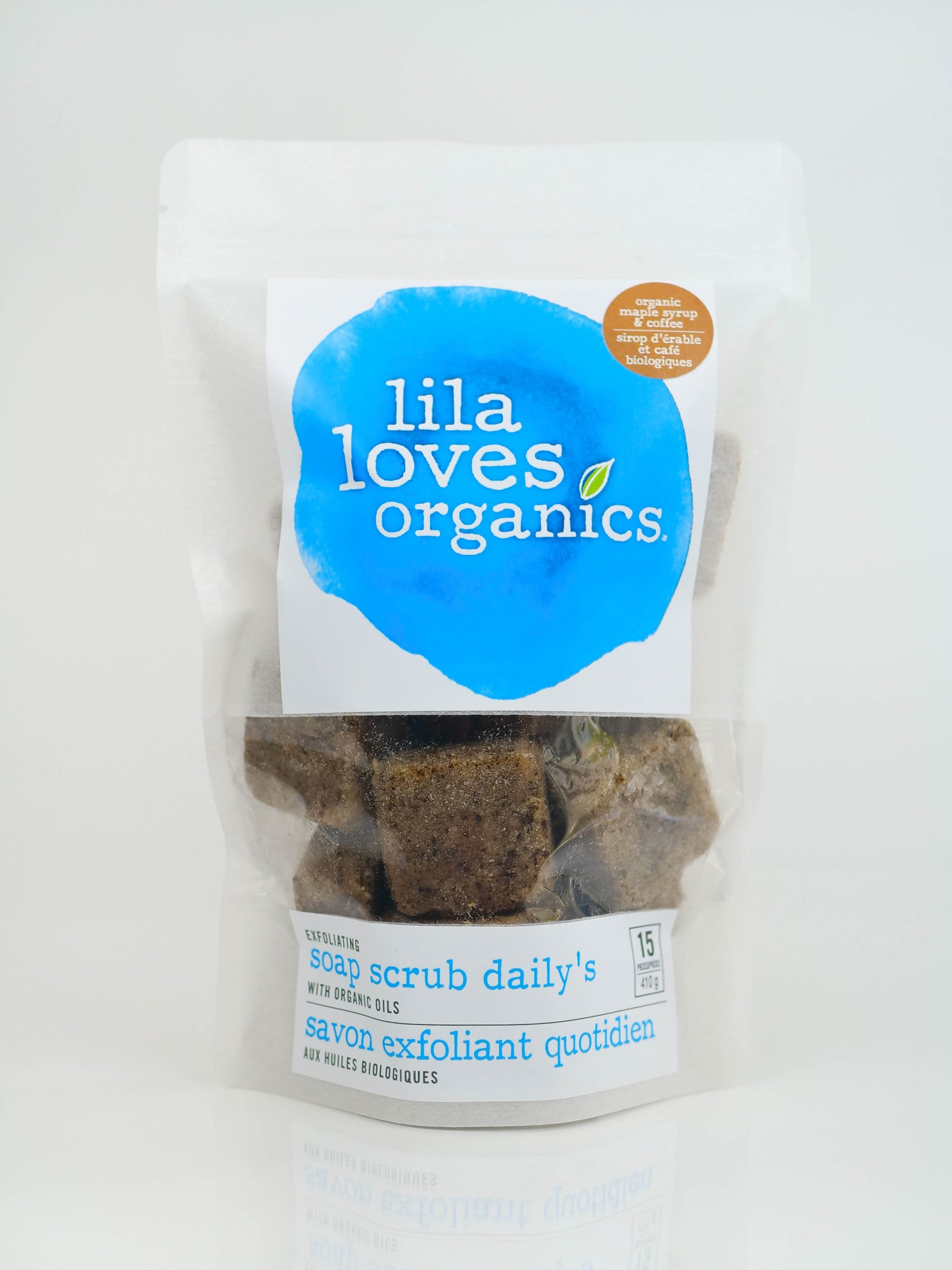 Personal Care - Lila Loves Organics Inc. - Exfoliating Scrub Cubes With Organic Oils, Maple Syrup & Coffee, 15 Pack - 410 G