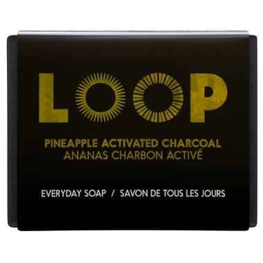 Personal Care - LOOP - Bar Soap, Pineapple Activated Charcoal, 100g