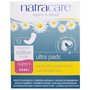 Personal Care - Natracare - Organic Cotton Ultra Pads Super+, 12 Pads