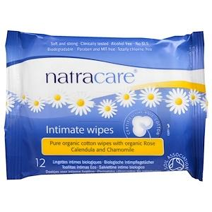 Personal Care - Natracare - Organic Cotton Wipes, 12 Wipes