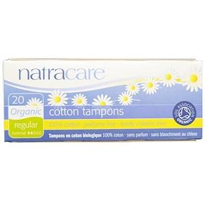 Personal Care - Natracare - Regular - Organic Tampons, 20 Tampons