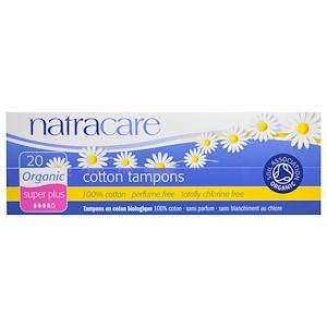Personal Care - Natracare - Super+ Organic All-cotton Tampon, 20 Tampons