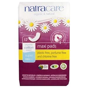 Personal Care - Natracare - Super Press On Pads, 12 Pads