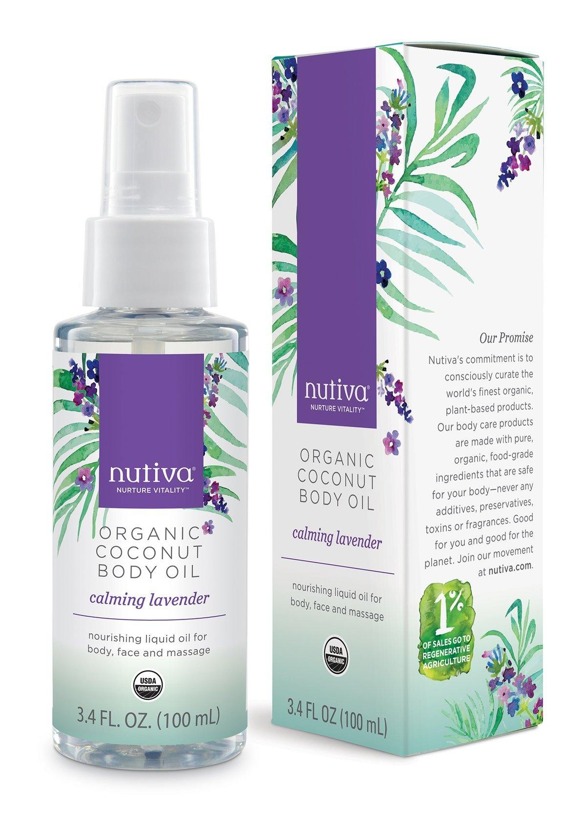 Personal Care - Nutiva - Coconut Body Oil - Lavender, 100ml