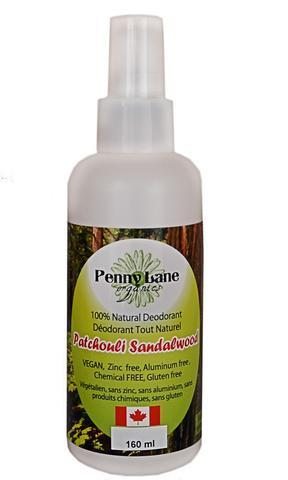 Personal Care - Penny Lane Organics - Spray Deodorant Patchouli Sand - 160mL