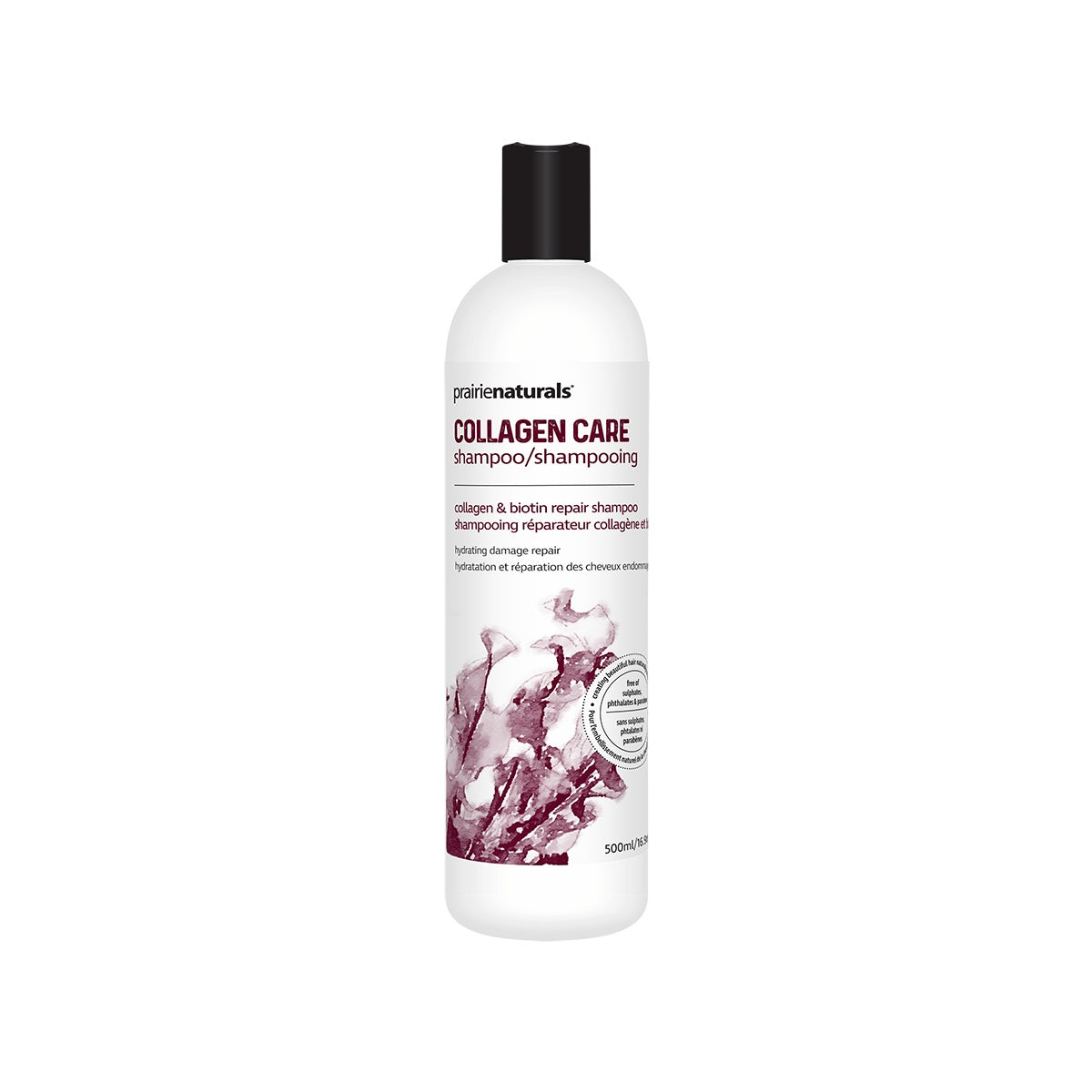 Personal Care - Prairie Naturals - Collagen Care Marine Collagen & Biotin Repair Shampoo, 500ml