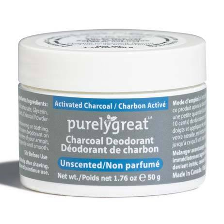 Personal Care - Purelygreat - Unscented Charcoal Deodorant, 50g