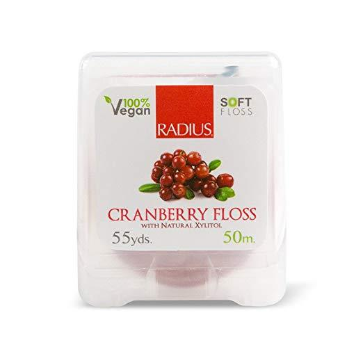 Personal Care - RADIUS Vegan Cranberry Dental Floss - 55 Yards