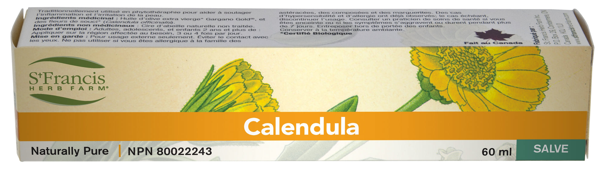 Personal Care - St. Francis Calendula Salve - 60ml